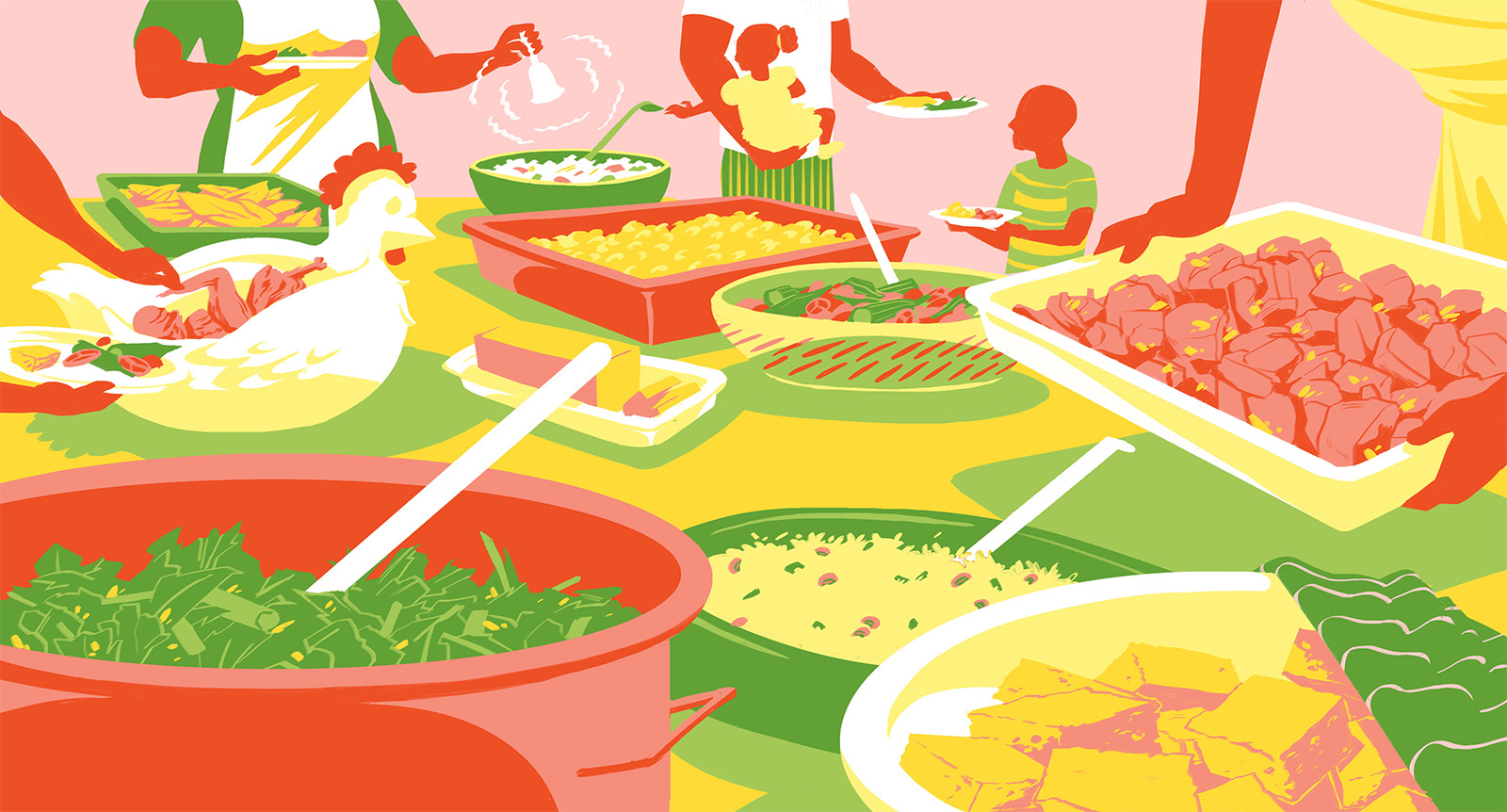 Web banner design for Lucky Jefferson's zine Awake. This issue covers black cuisine.